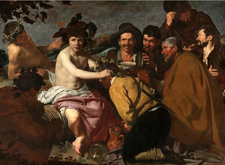 "'The Triumph of Bacchus"" diego velazquez, 1628"