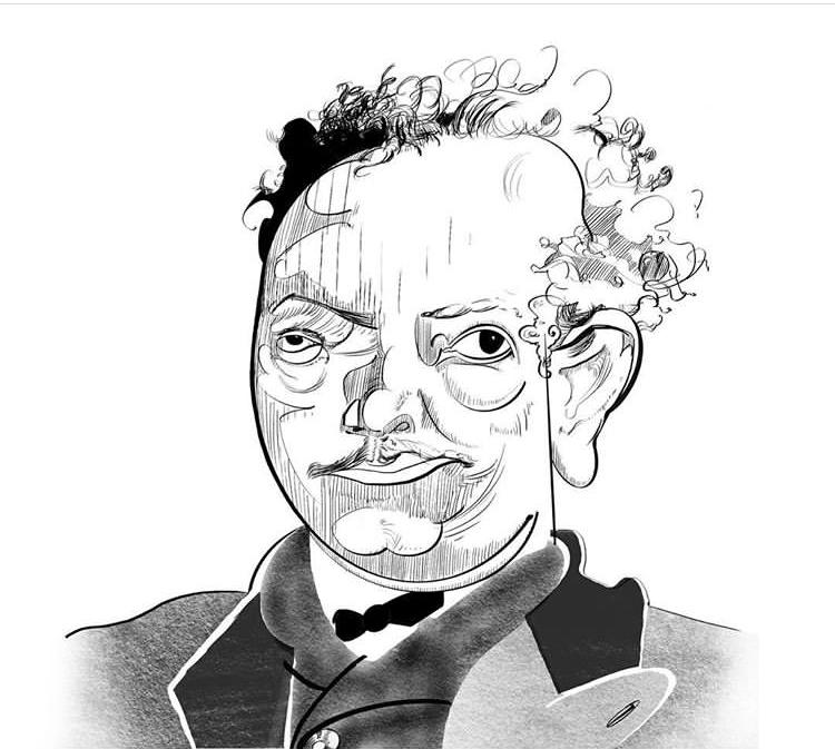 portrait of richard strauss by jeremy lewis, www.jeremylewis.com