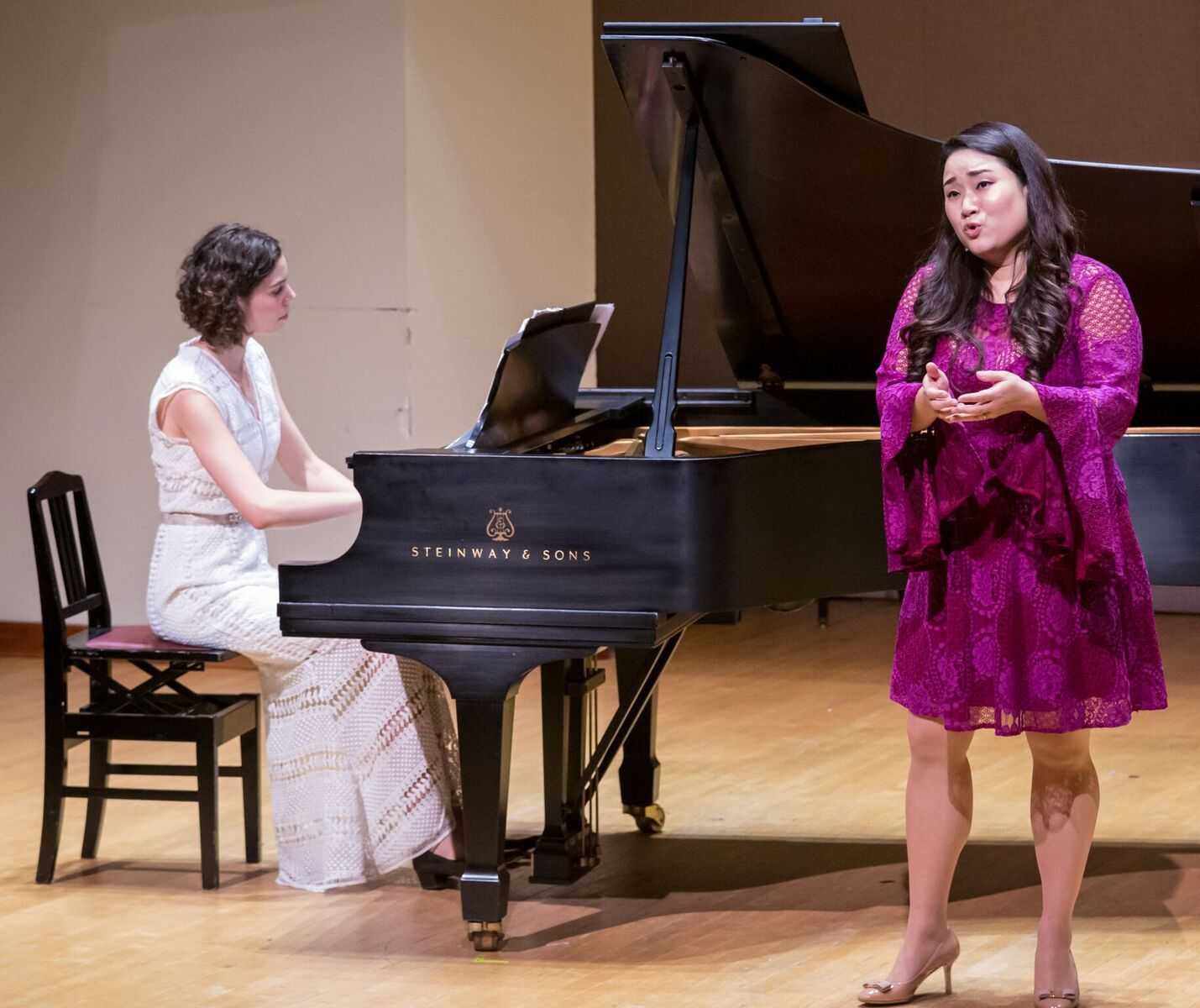 Soprano Yunji Shim, Bronwyn Schuman (piano); Photo Credit: James Ireland