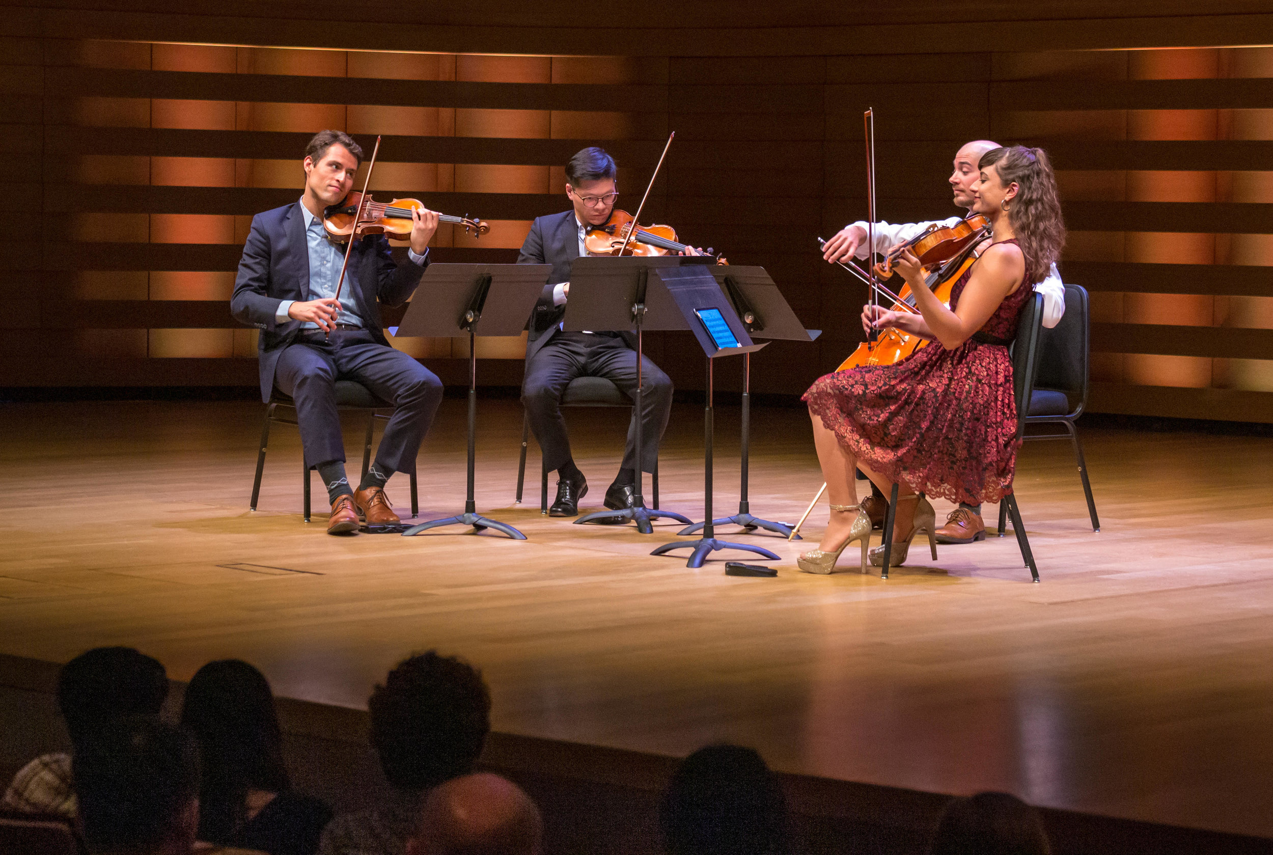 L-R: Joel Link, Brian Lee, Milena Pajaro-van de Stadt and Camden Shaw. Photo credit: Toronto Summer Music