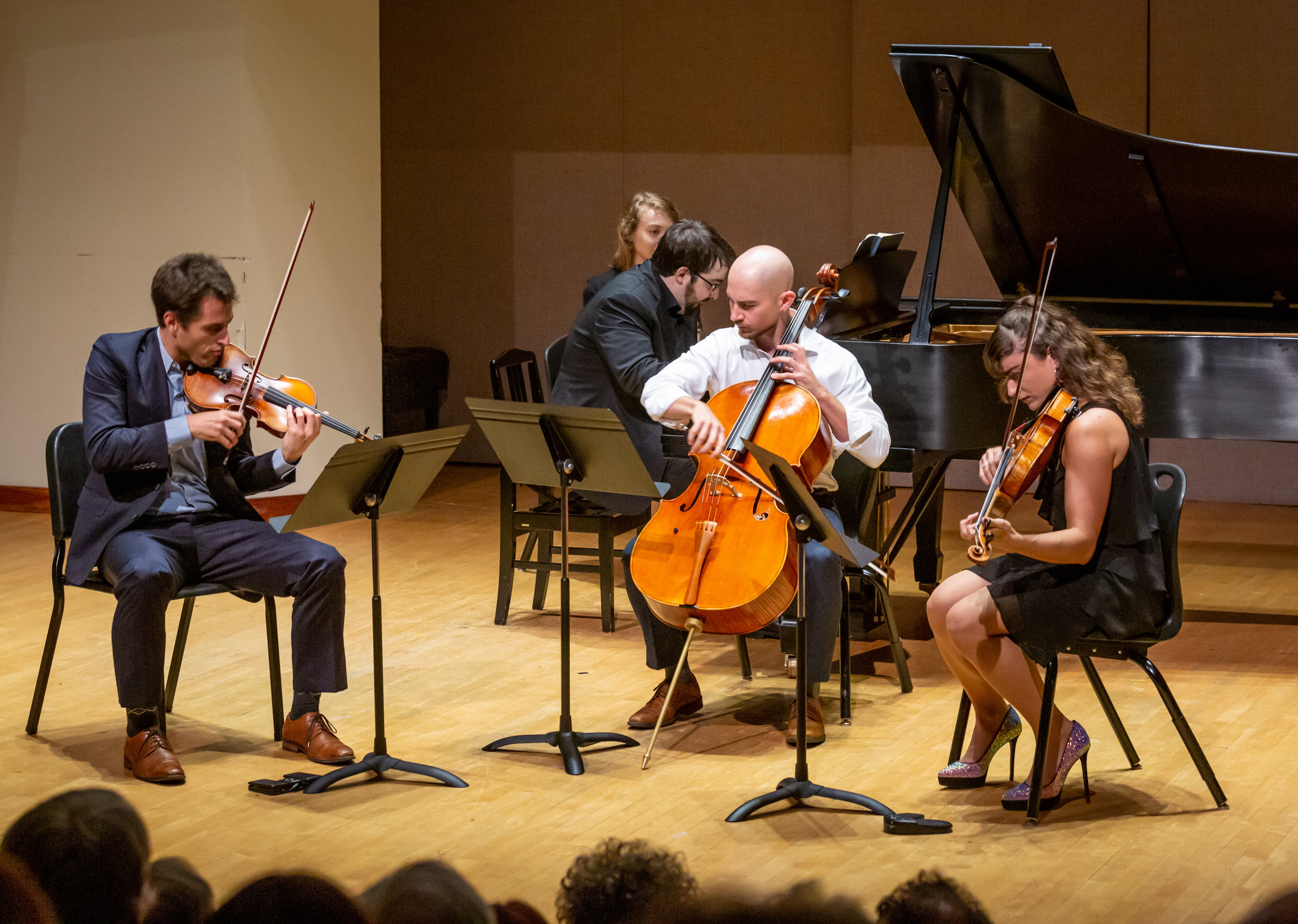 L-R: Joel Link, Charles Richard-Hamelin, Camden Shaw and Milena Pajaro-van de Stadt. Photo by James Ireland