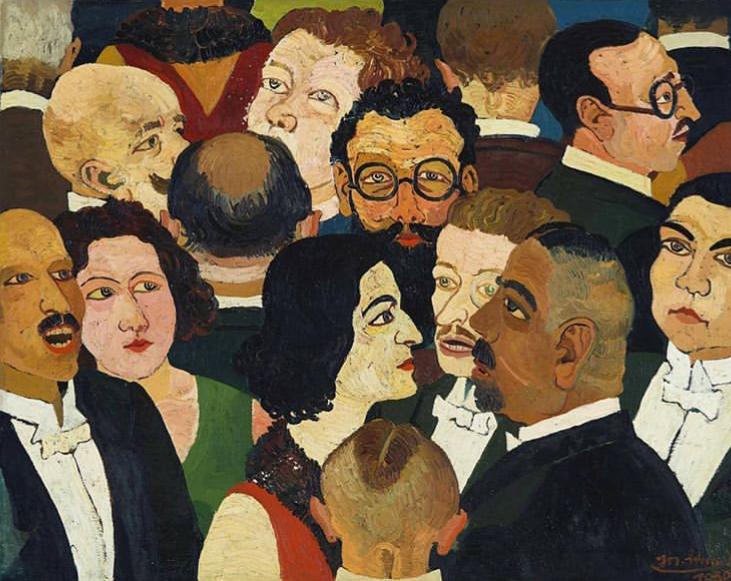 'Theatre Pause' by Josef Scharl (1930)