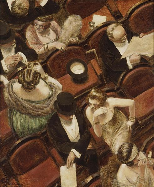 'At the Theatre' by Albert Guillaume (1915)