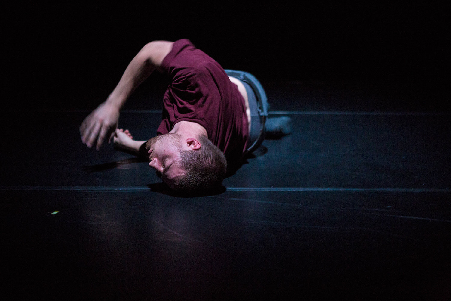 JOSH MARTIN (COMPANY 605) IN LEFTOVERS. PHOTO BY TIM SUMMERS.