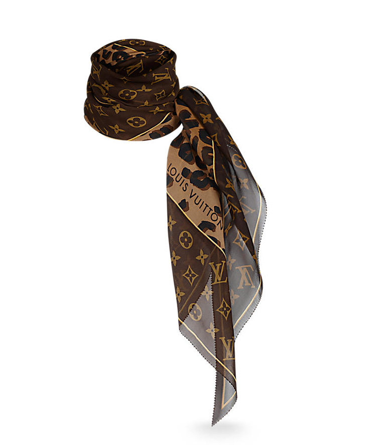Leopard and Monogram Scarf Click   Louis Vuitton   Rated: Timeless piece Once your closet is developed this is the time to start making big money purchases! Yaass