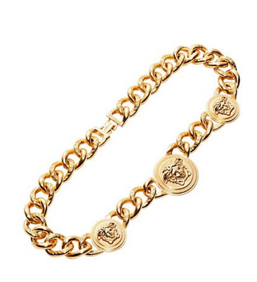 Versace The great thing about Versace chains -you can always find them for a bargain at different brand name outlets. For the Versace chain at original price   click here  .