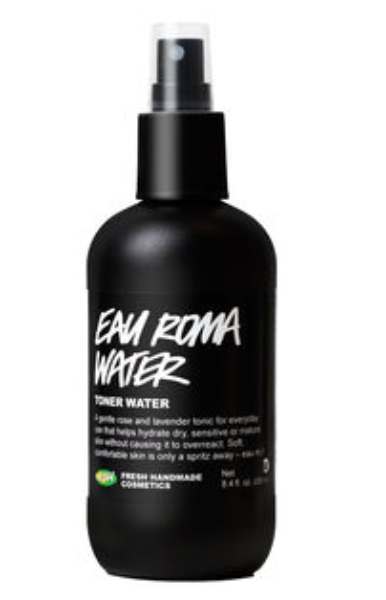 Eau Roma Water , lightly spritzed all over my face leaving me feeling relaxed and fresh! I use this toner in the morning as a mini spa date before heading to work.