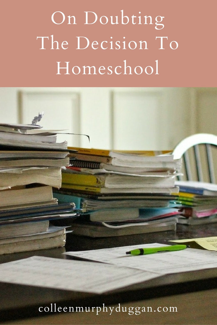 On Doubting The Decision To Homeschool by Colleen Duggan
