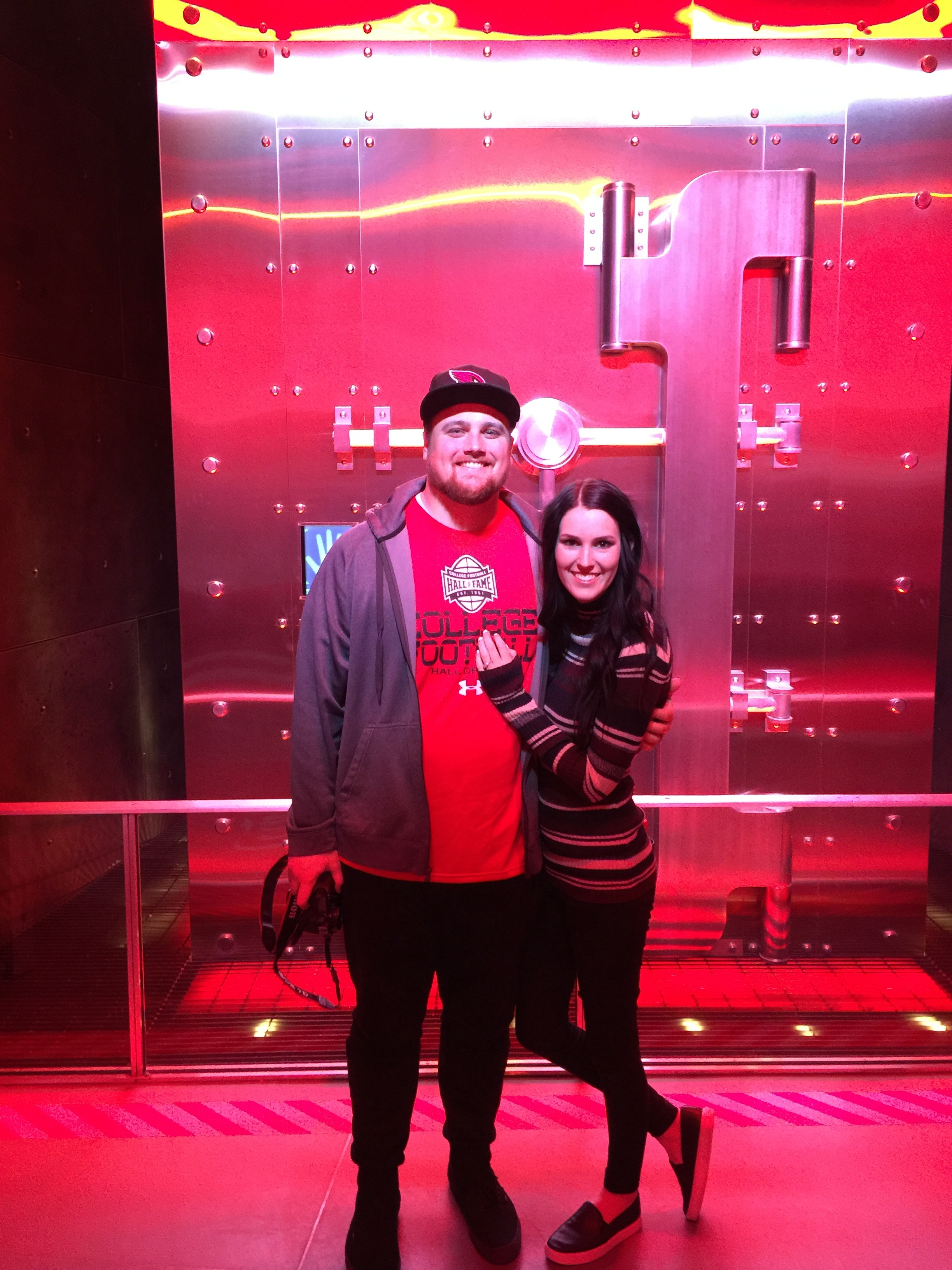 Us at the Coca-Cola Factory behind the Vault were they keep the recipe!