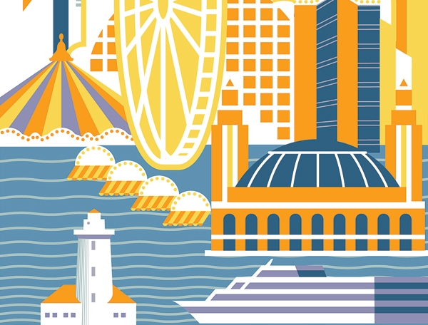 """Chicago Magazine: Can Navy Pier Ever Be Cool? - …the food court (er, """"food experience"""") is now peppered with outposts from local favorites Goddess and the Baker, Brown Sugar Bakery, and DMK Burger and Fish Bar and even a craft cocktail spot by Tiny Lounge called—what else—Tiny Tavern."""