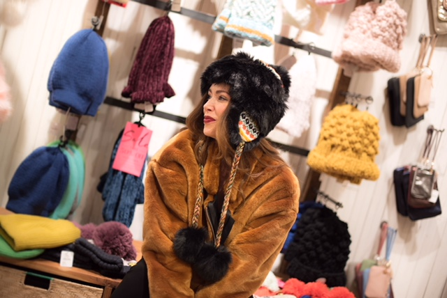 Hat and Furry Bomber Jacket from Free People Cherry Creek