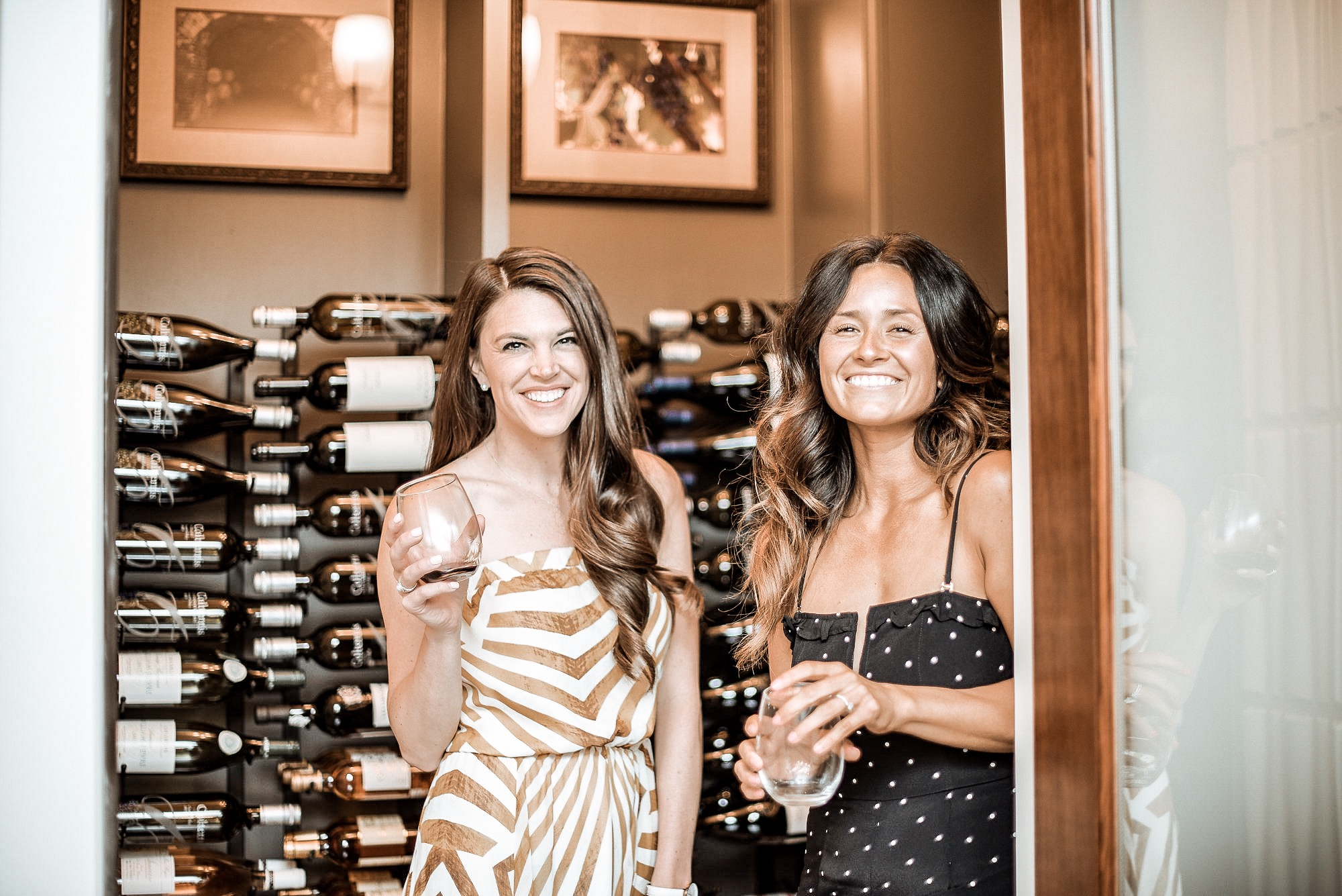 Desire (@desirefalk) and Katie Ann (@thehollytree_) in our home wine cellar...I mean how cute are they?