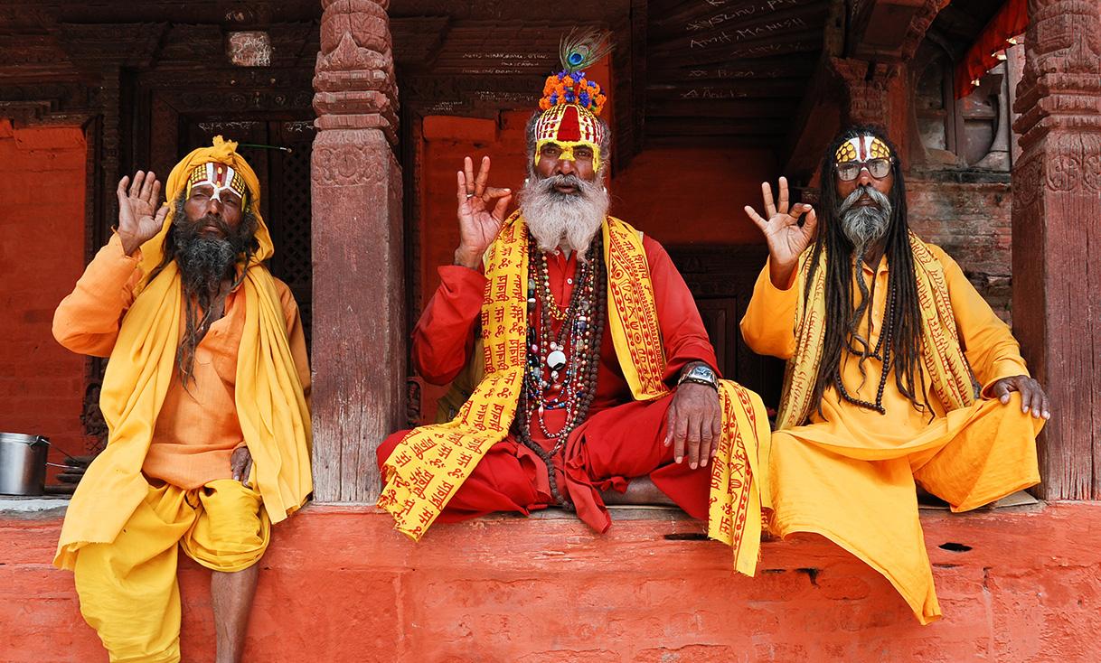 Three_saddhus_at_Kathmandu_Durbar_Square-FREE.jpg