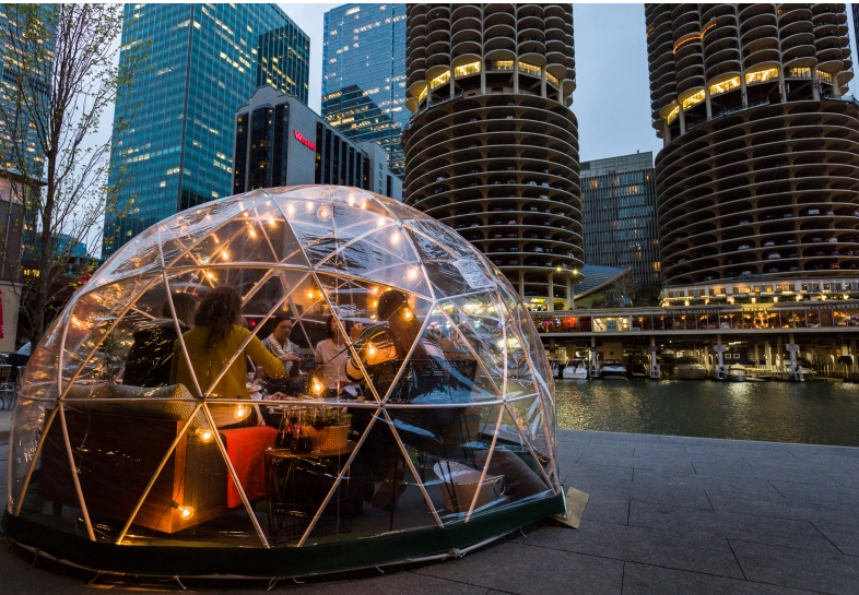 Crain's Chicago Business      Here's where you can extend patio season:  Fire pits, domes and retractable roofs: These restaurants and bars want you to continue dining and drinking alfresco.