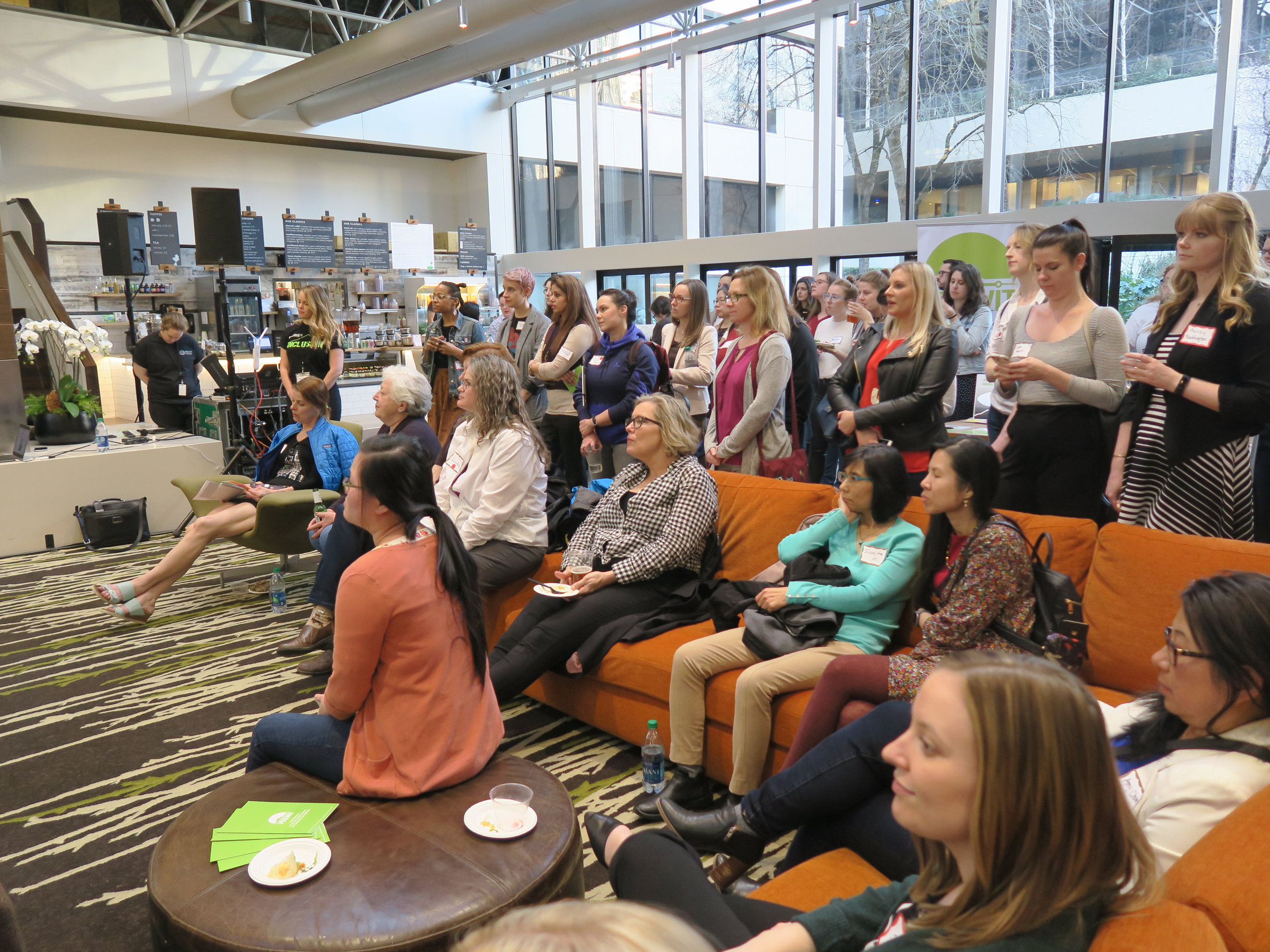 PDXWIT March Happy Hour @ Cambia Health, 3/19/19, Attendees listen to the presentation