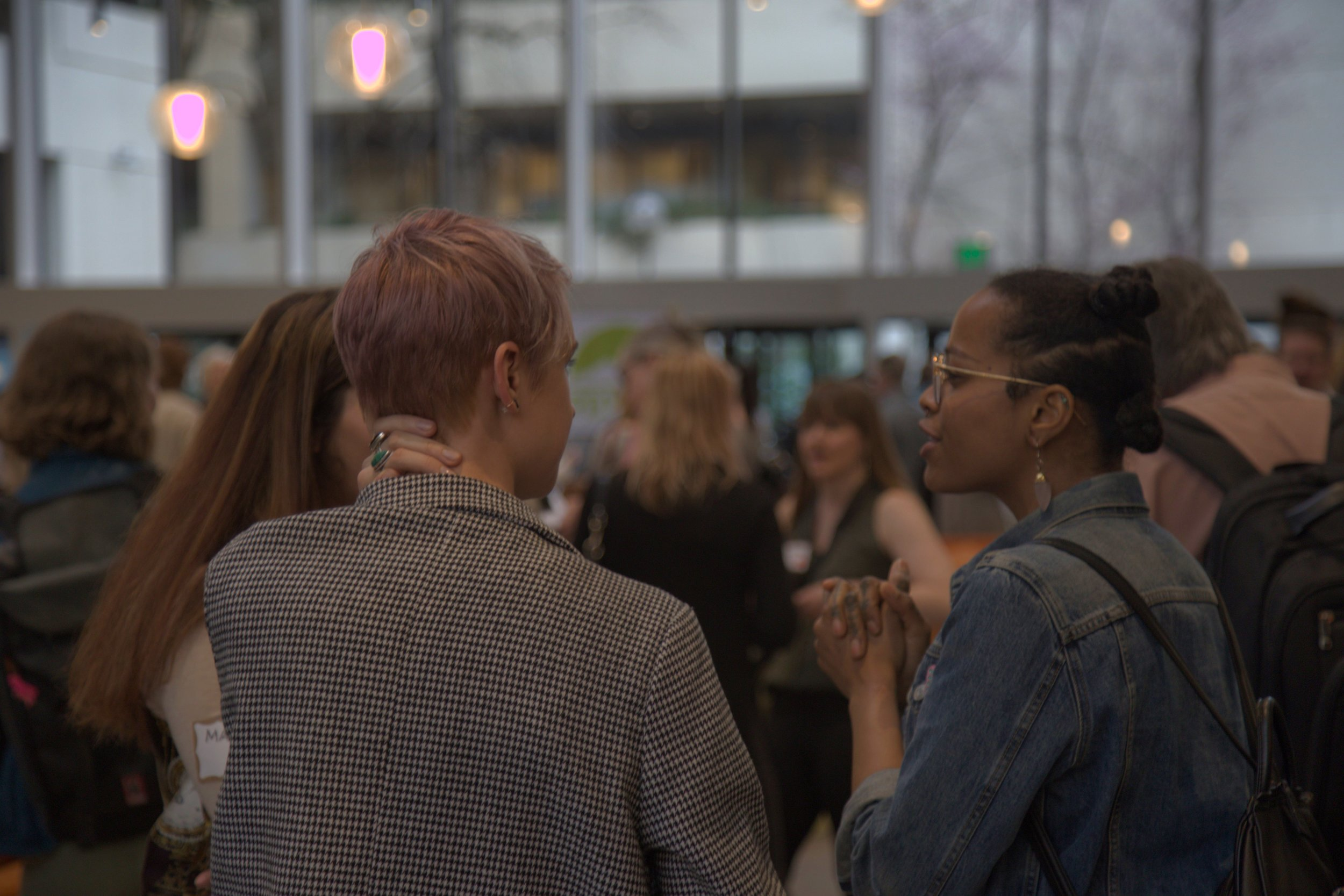 PDXWIT March Happy Hour @ Cambia Health, 3/19/19, Attendees mingle