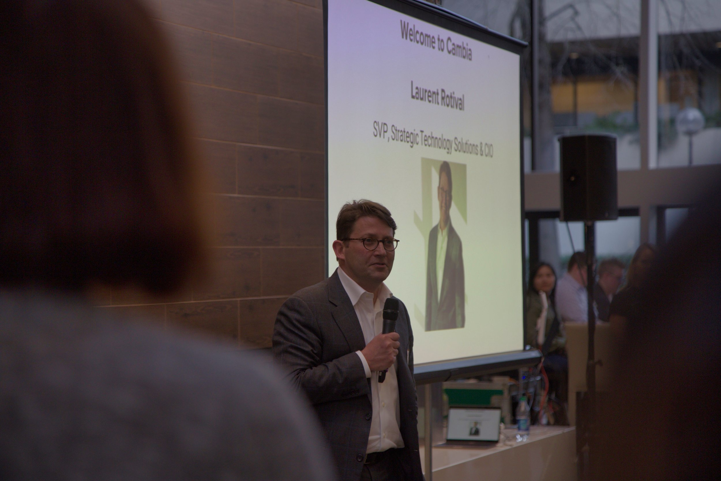 PDXWIT March Happy Hour @ Cambia Health, 3/19/19, Laurent Rotival - SVP, Strategic Technology Solutions & CIO at Cambia Health Solutions - speaks