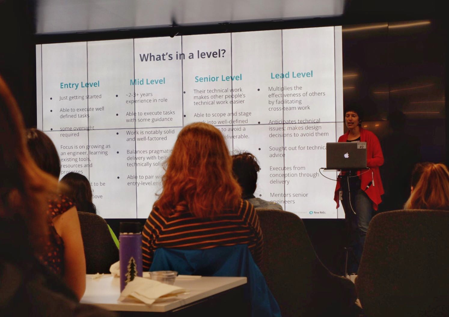 PDXWIT How to Navigate The Tech Field @ New Relic, 4/23/19 - Elisa Binette, a Director of Software Engineering at New Relic, presents