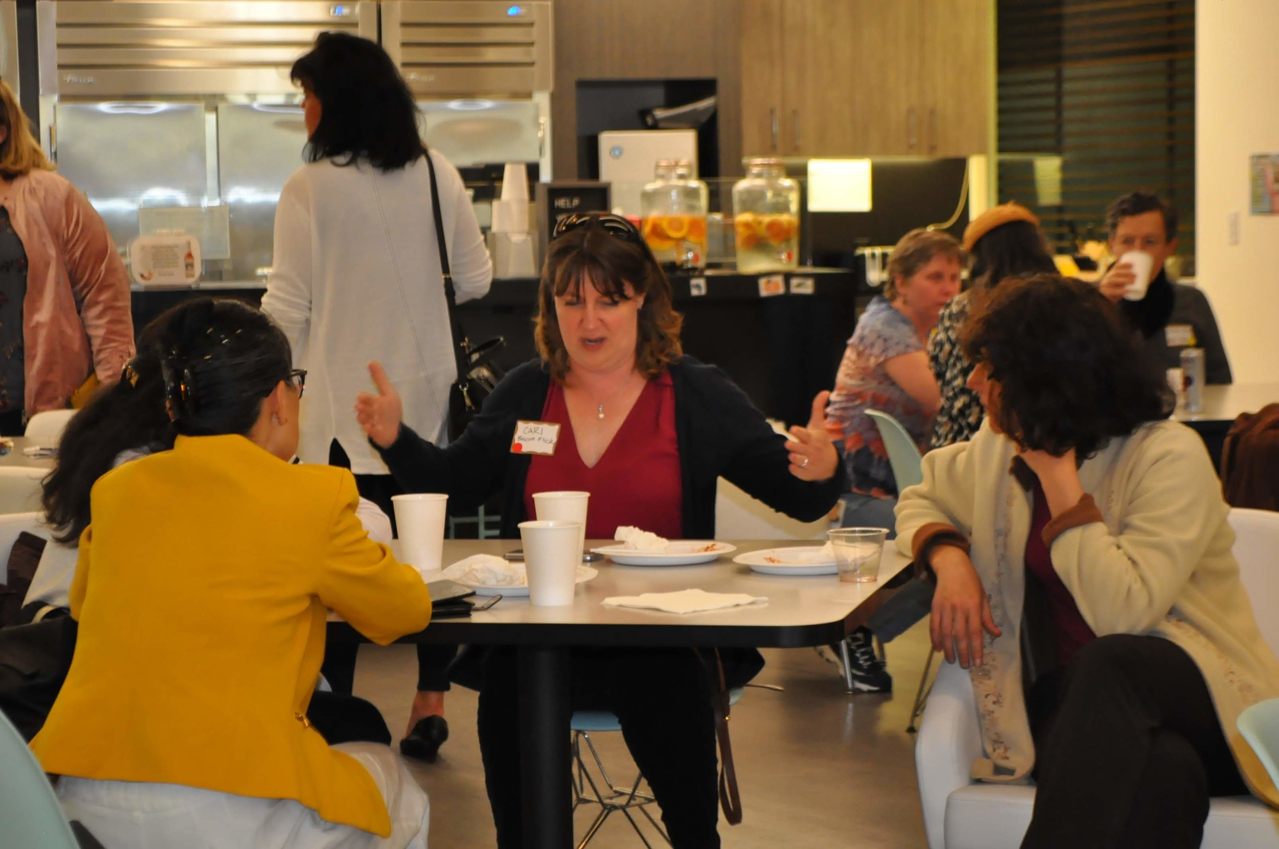 PDXWIT Experienced Women in Tech @ Corvel, 4/30/19 - Attendees mingle