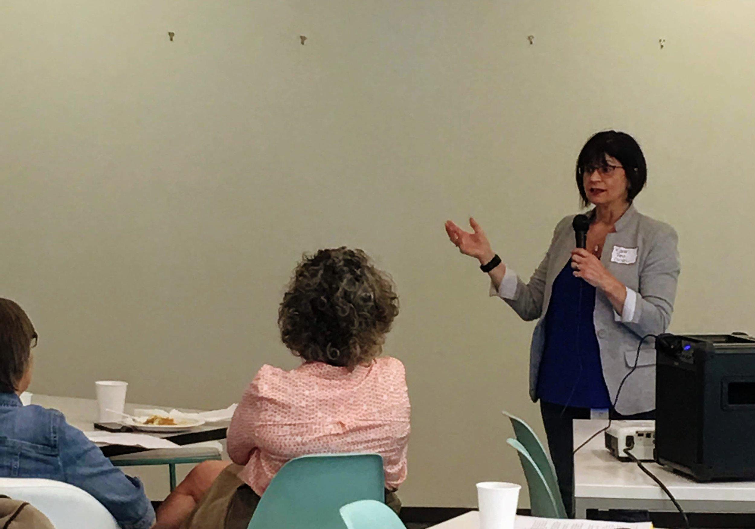 PDXWIT Experienced Women in Tech @ Corvel, 4/30/19 - Karen Pesznecker, Senior Talent Acquisition Specialist at CorVel, opens the presentation