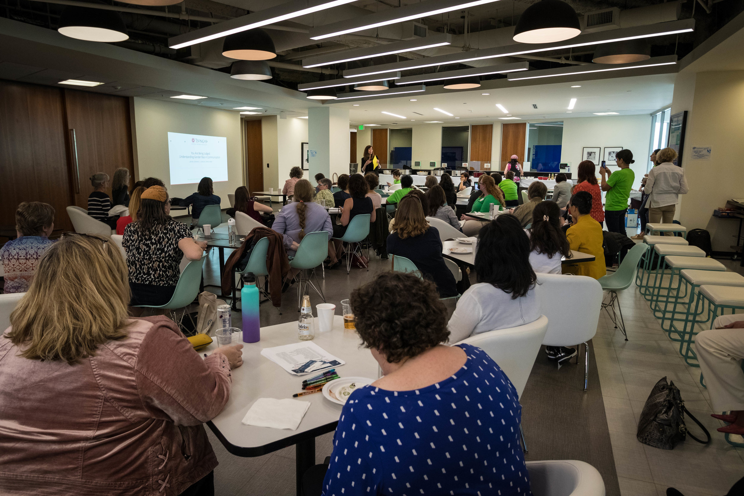 PDXWIT Experienced Women in Tech @ Corvel, 4/30/19 - Attendees listen to the presentation