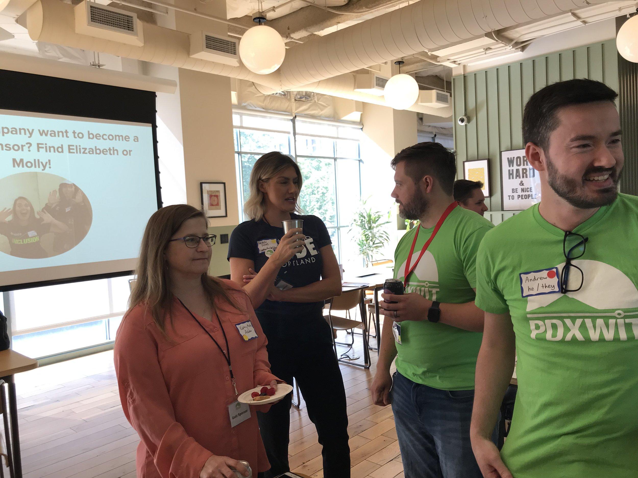 PDXWIT Volunteers at Job Seekers table.JPG