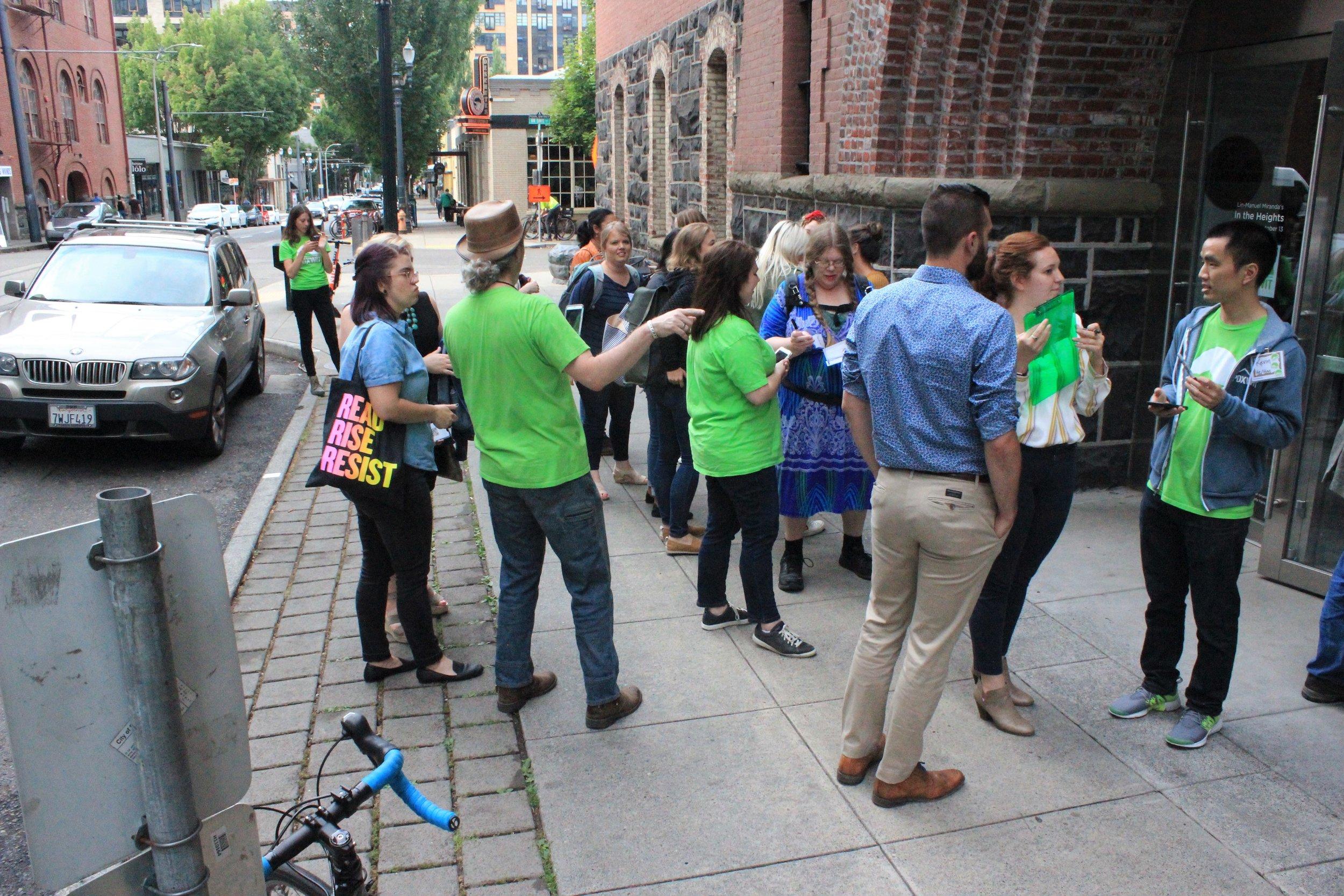 Volunteers checking in attendees.jpg
