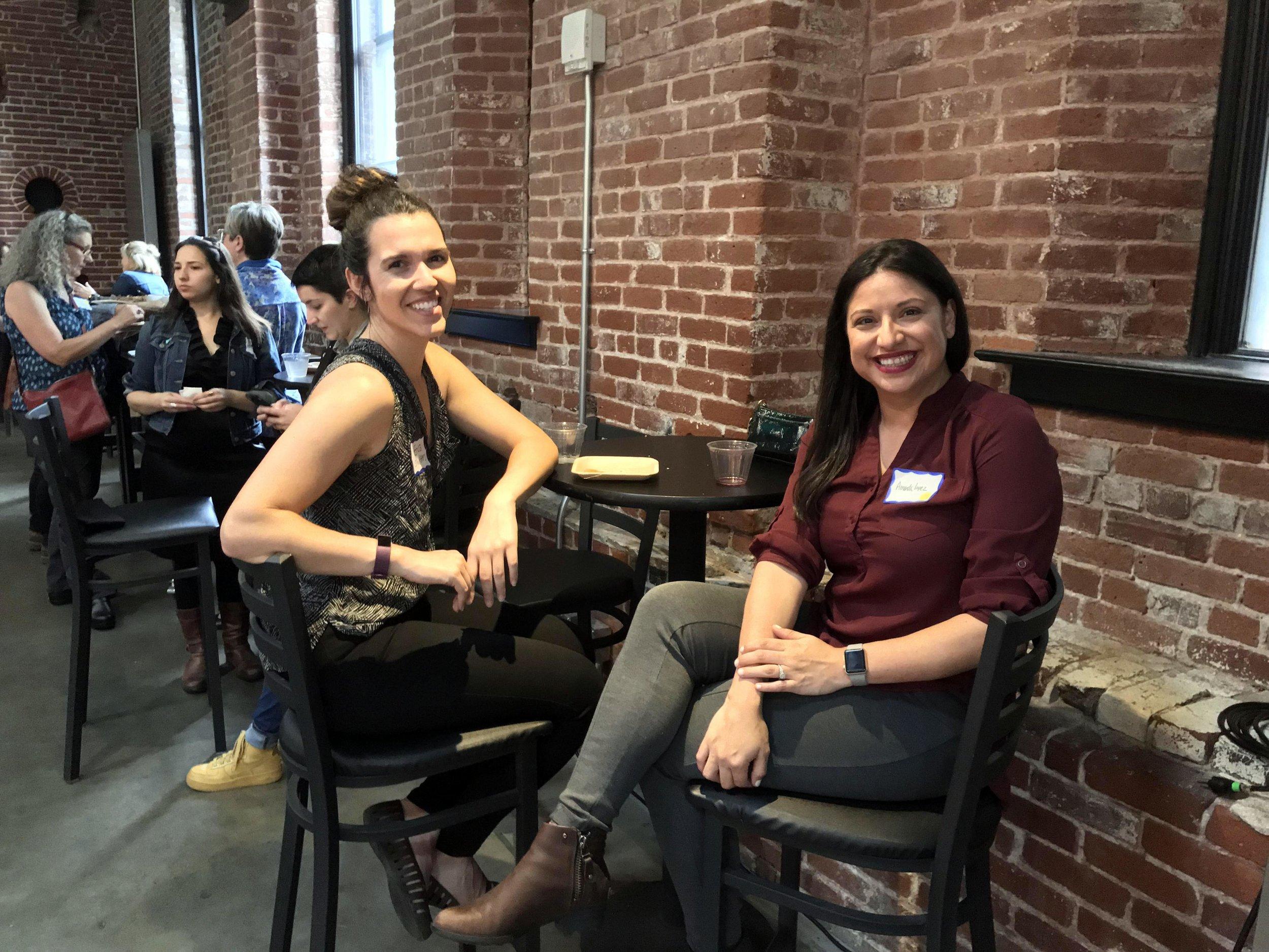 Erica posing with PDXWIT Board Member Amanda Lopez.jpg