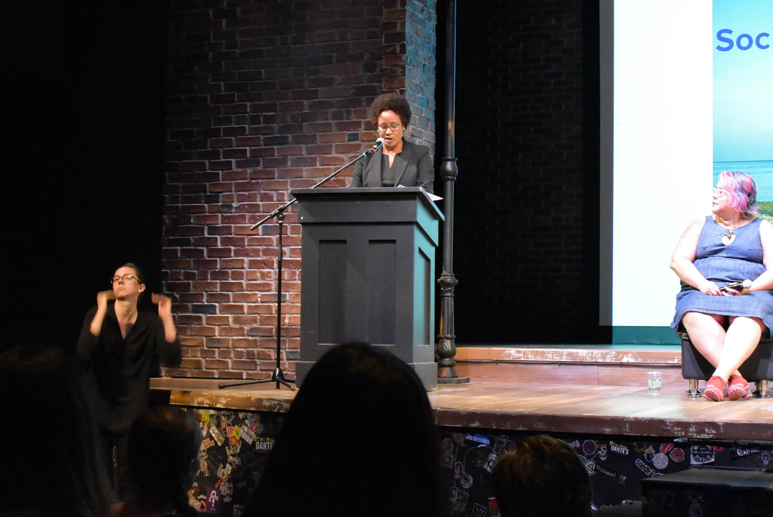 Dr-Harriet-Nembhard speaks to the crowd.JPG