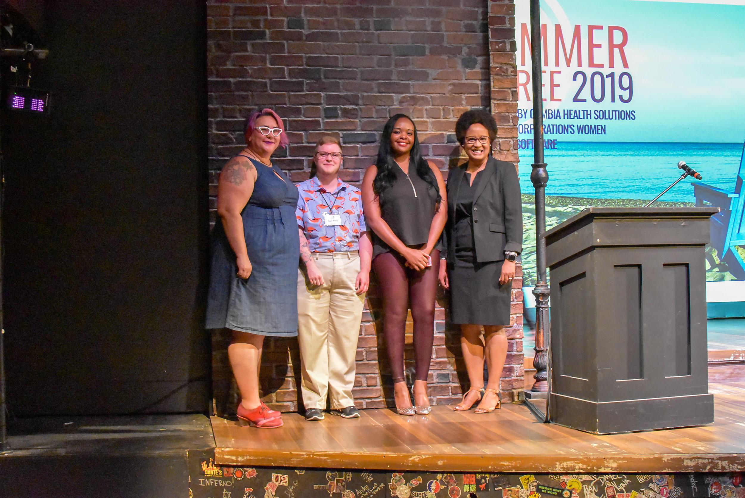 (left to right) Tara Robertson, Sage Sharp, Esther John, Dr. Harriet Nembhard (1).JPG