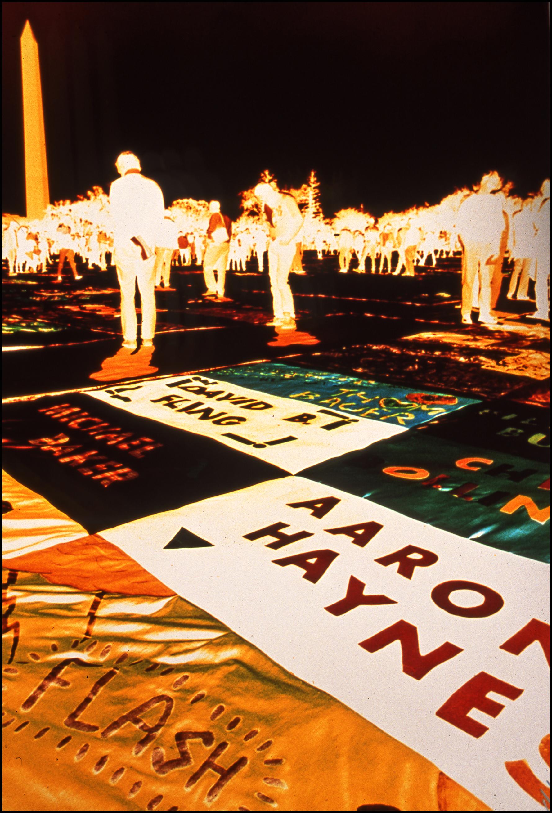 AIDS Quilt, Washington DC, 1987