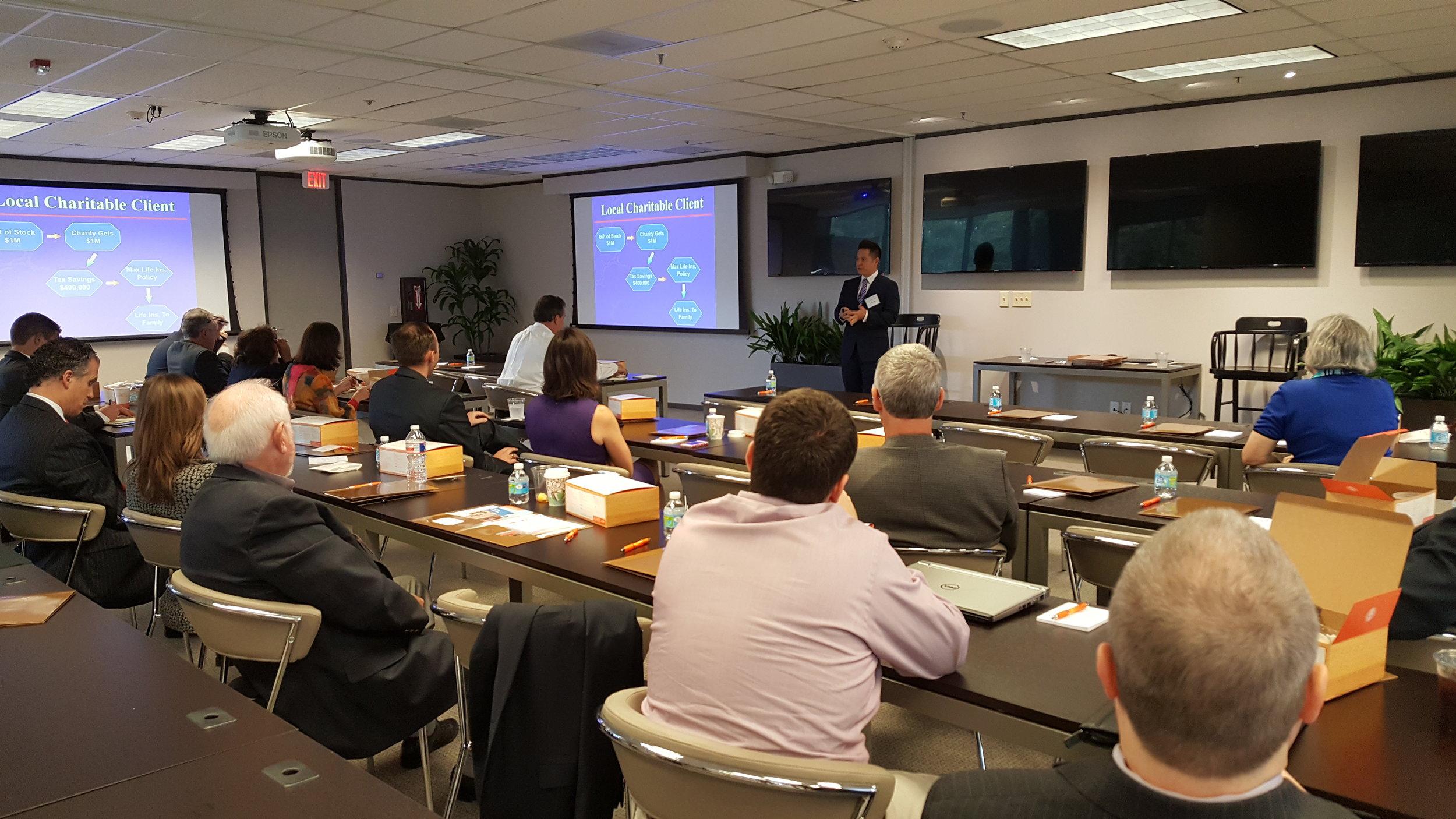 Customized Continuing Education Seminar for over 30 professional advisors. University of Texas Health, San Antonio, Texas.