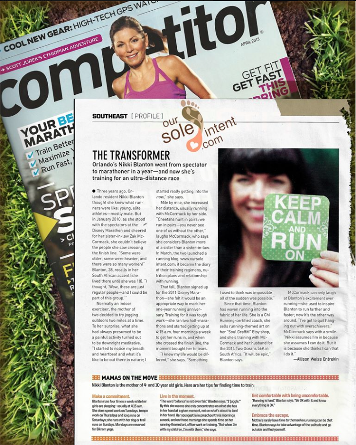 Competitor Magazine: full page editorial