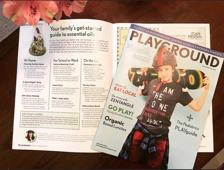 PLAYGROUND magazine....Editorial Feature