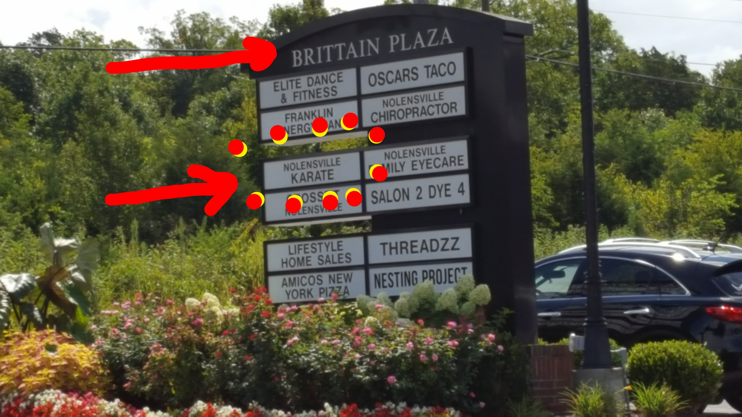 We're at 7177 Nolensville Rd. Suite 5B.. in the Brittain Plaza. OUR SIGN STILL SAYS << NOLENSVILLE KARATE >> but we're a Peaceful Warrior Dojo and we're down stairs and around behind the building. Please call (615) 776-4010 if you have trouble finding us.
