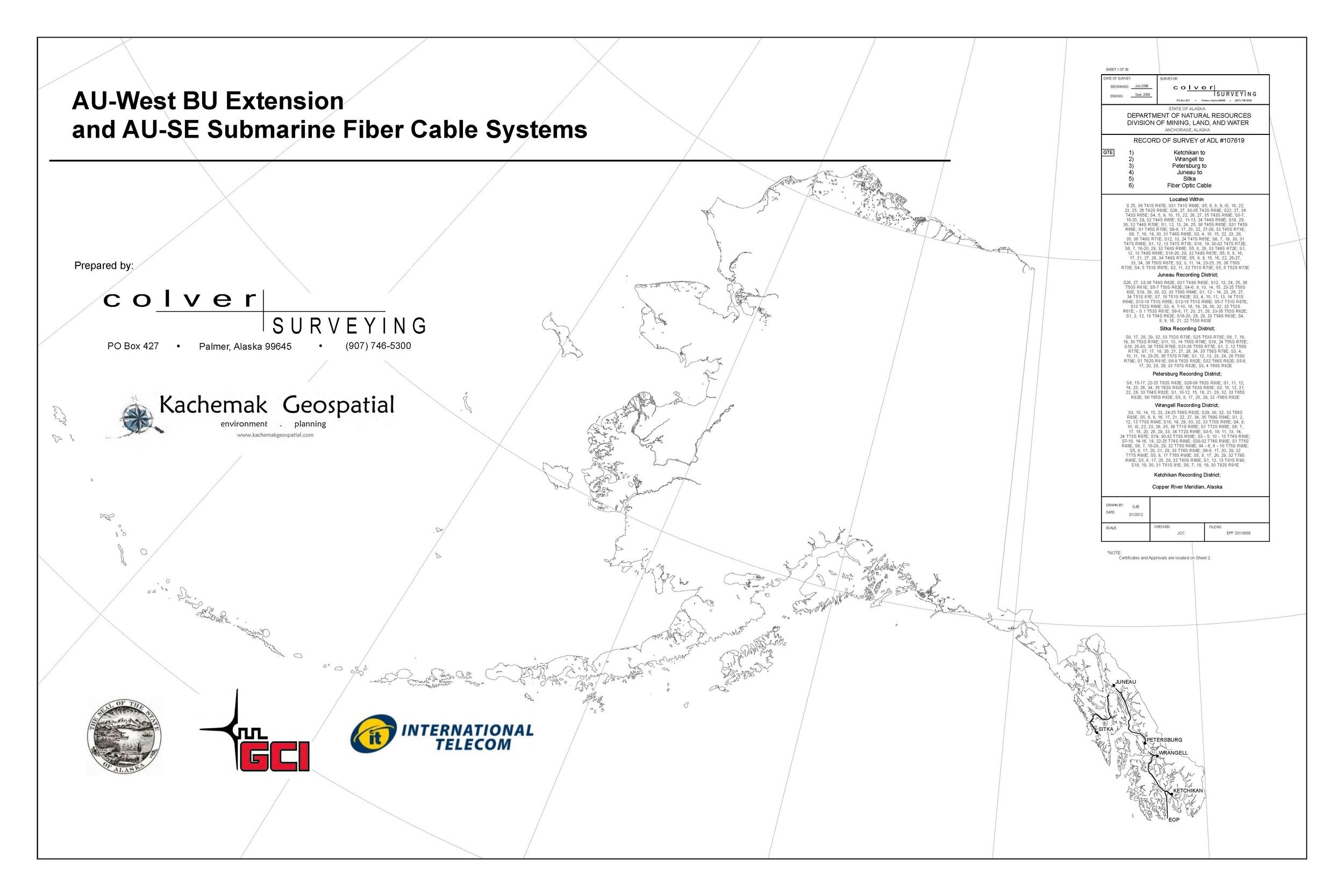 Kachemak Geospatial has partnered with GCI to digitize the fiber optic cable system throughout Alaska.
