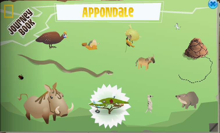 The completed Appondale page in the Journey Book