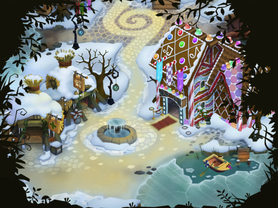 Winter Township Wallpaper
