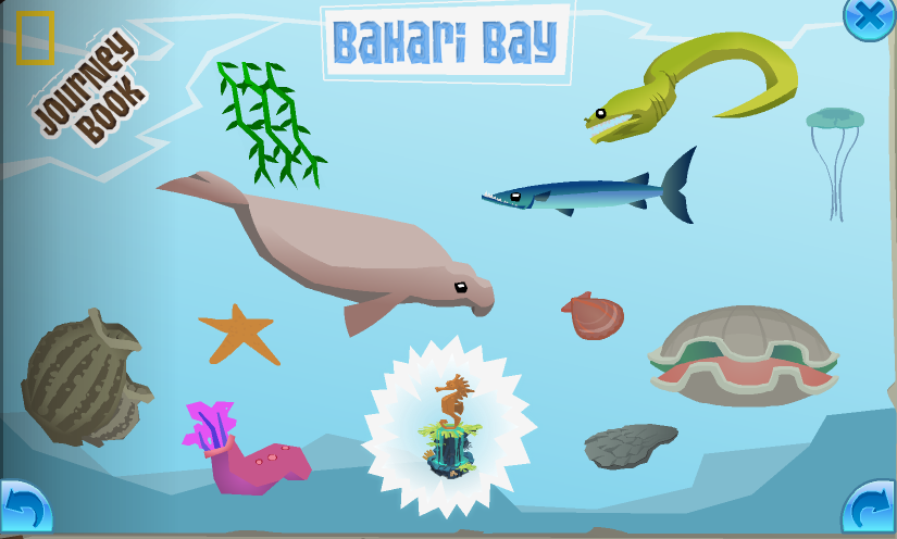 The completed Bahari Bay page in the Journey Book
