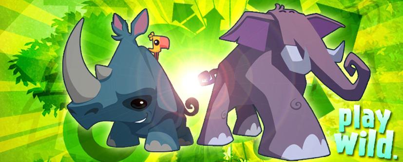 Elephant & Rhino Banner