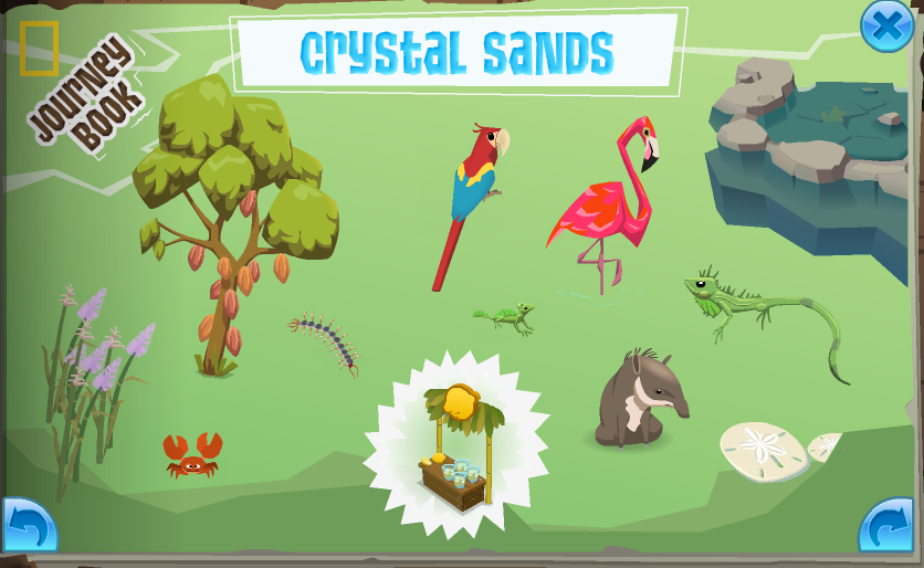 The completed Crystal Sands page in the Journey Book.