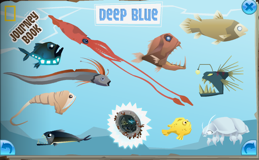 The completed Deep Blue page in the Journey Book