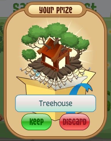 Your prize, the Treehouse!