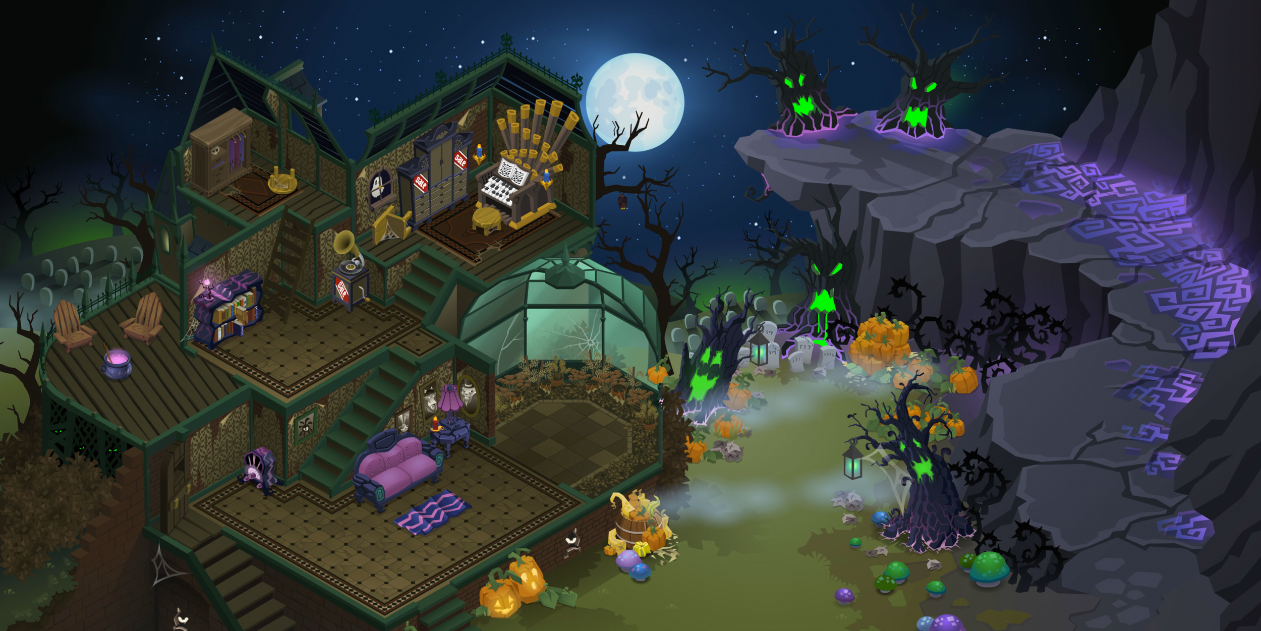 Spooky Party Map