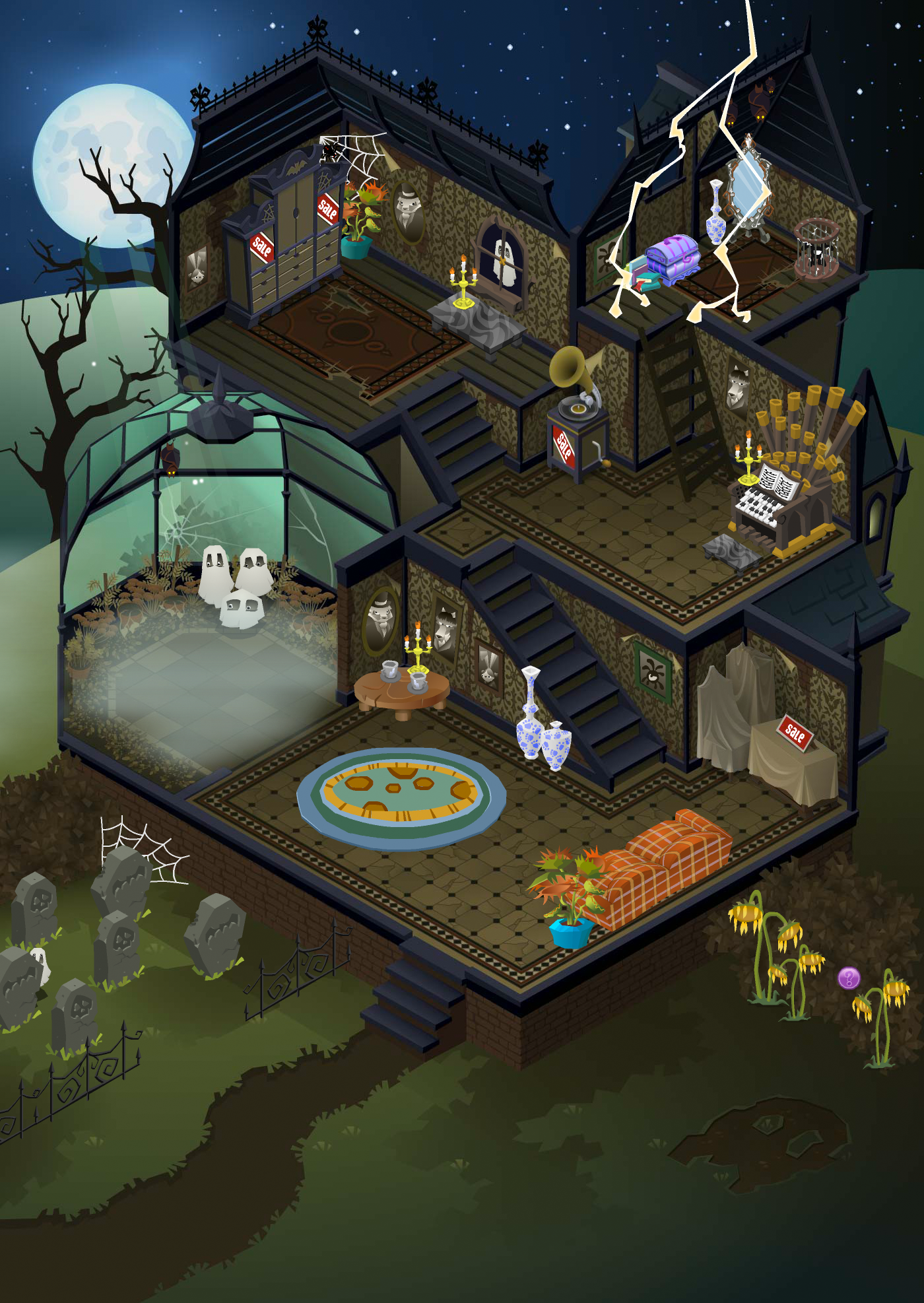 Old Spooky Party Map