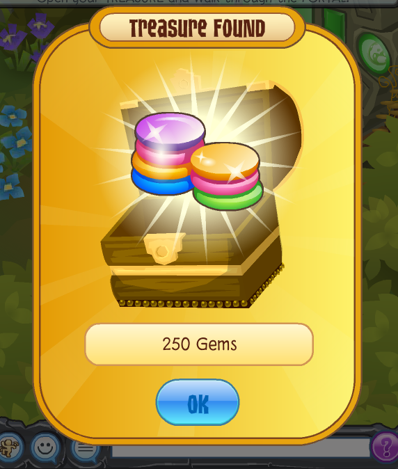The Reward! - For all your hard work, you will recieve 250 gems and level up to level 1! You are all set for your next adventure, beware it will be HARD!