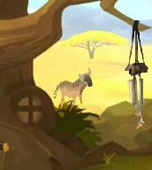 Wildebeest (walks by)