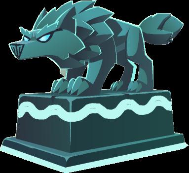 Direwolf Statue