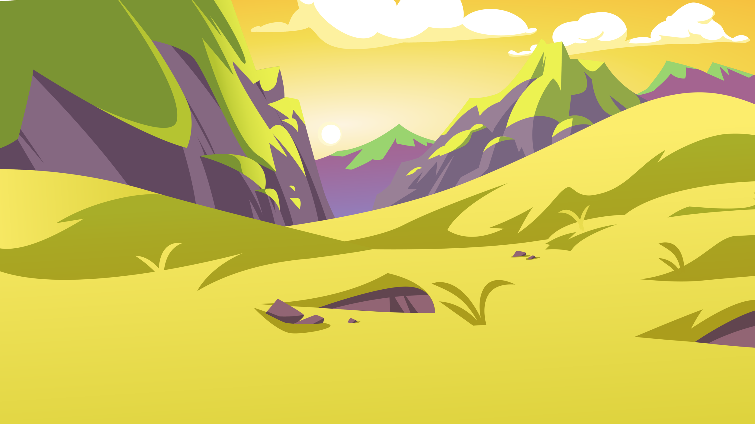 New! - Mountain Valley Background