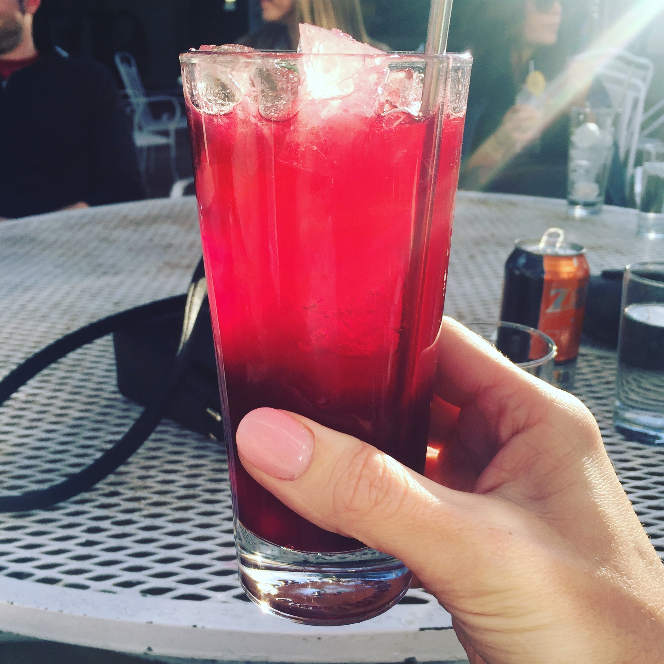 Don't worry folks, that's just a delicious mocktail I enjoyed while celebrating a friend's birthday.
